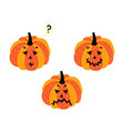 flat halloween pumpkin set isolated vector image vector image