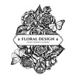 floral bouquet design with black and white great vector image
