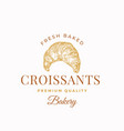 fresh baked crissants abstract sign symbol or vector image