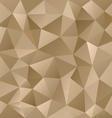 gold metal beige triangular pattern background vector image vector image