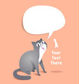 gray cat in paper style vector image vector image