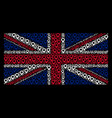 great britain flag mosaic of map marker icons vector image