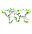 Green 3d world map vector image vector image