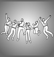 group of businessman jumping with gladness vector image vector image