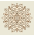 Hand drawn floral rosette in vintage colors vector image vector image