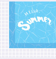 hello summer holiday greeting card vector image