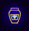 honey jar neon sign vector image vector image