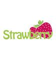 horizontal trendy strawberry logo vector image vector image