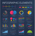 infographics template set of graphic design vector image vector image