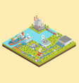 logistic transportation concept 3d isometric view vector image