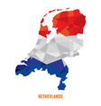 Map of Netherlands vector image vector image