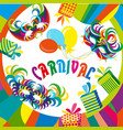 masquerade party mask set happy carnival festive vector image vector image