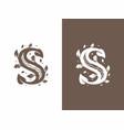 modern professional sign logo s letter vector image vector image
