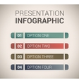 Modern soft color Design template infographics vector image vector image