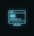 monitor site 404 error neon icon web development vector image vector image