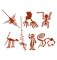 nazca lines set vector image vector image