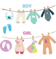 new baboy and girl set for bashower vector image vector image