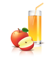 object apple juice vector image vector image