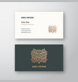owl totem abstract logo and business card vector image vector image