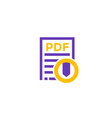 pdf download icon on white vector image vector image