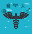 pharmacy symbol with medical healthcare icons vector image vector image
