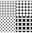 seamless monochrome patterns set vector image