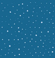 seamless pattern hand drawn white snow flakes vector image