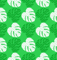 Seamless texture with flat green leaves monstera vector image vector image