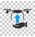 Send Drone Hand Icon vector image vector image