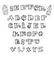 Set handwriting author of the English font vector image vector image