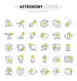 set line icons astronomy vector image