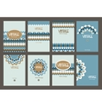 Set of creative vintage cards Best creative hand vector image vector image