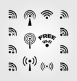set wireless and wifi icons vector image