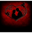 silhouettes of men and women with cupids vector image vector image