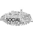 social network word cloud concept vector image vector image