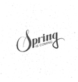 Spring season retro label vector image vector image