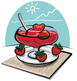 strawberries jam vector image