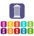 street trash icons set vector image vector image