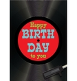 Template greeting card happy birthday on vinyl vector image vector image