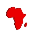 The African continent Bulk vector image vector image