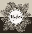 tropical palm leaves jungle round vector image vector image