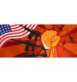 usa america war propaganda hand fist strike with vector image