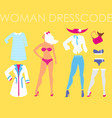 women dress code romantic style on vector image vector image