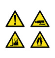 workplace sign security camera forklift flammable vector image vector image