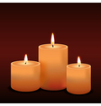 three candles vector image