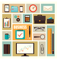 business flat elements vector image