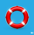 lifebuoy on a blue background vector image