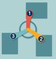 1 2 3 flat options vector image