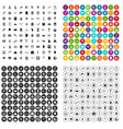 100 archeology icons set variant vector image