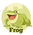 ABC Cartoon Frog vector image vector image